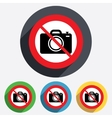 Do not Photo camera sign icon Photo symbol vector image vector image