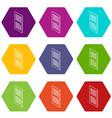 door with horizontal vent icons set 9 vector image vector image