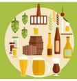 flat design beer theme vector image