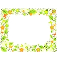Frame from abstract leaves flowers and butterflies vector image vector image