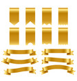 gold ribbons and labels pack vector image vector image