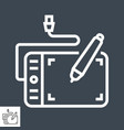 graphics tablet line icon vector image