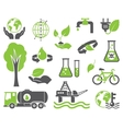 Green planet symbols vector image vector image