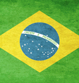 Grunge Flag Of Brazil vector image vector image
