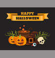 happy halloween ribbon on vector image