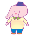 Happy Pink Elephant Man vector image vector image