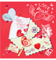 letter heart card 380 vector image vector image