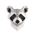 low poly raccoon vector image vector image