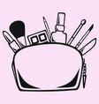 makeup bag cosmetic bag vector image vector image