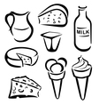 mleko vector image