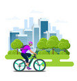 mobile application on phone for renting a bike vector image vector image