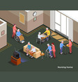 nursing home isometric poster vector image vector image