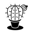 plant cactus icon black sig vector image