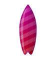 purple surfboard icon cartoon style vector image vector image