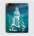 restaurant card menu sketch of a seascape vector image