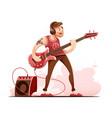 rock guitar player vector image vector image
