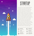 rocket launch concept of start up business vector image