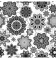 Seamless flower retro pattern in Gray vector image vector image