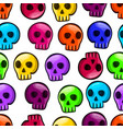 seamless pattern with color skulls vector image vector image