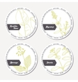 Set of stickers for package design with kaffir vector image