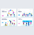 set of web page for distance vector image vector image