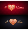 Simple I Love Ink Card vector image