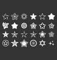 stars icon set grey vector image