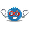 super hero blueberry character cartoon style vector image vector image