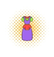Traditional Netherlands costume icon comics style vector image