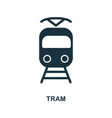 tram icon in flat style icon design vector image vector image