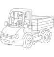 truck driver riding vector image