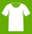 tshirt icon green vector image vector image