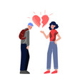 unrequited one sided love teenage puberty vector image vector image