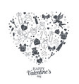 valentines day element design for card vector image