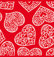 valentines day vintage seamless pattern vector image