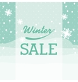 winter sale design vector image vector image