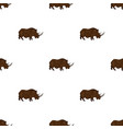 woolly rhinoceros icon in cartoon style isolated vector image vector image