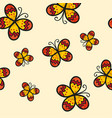 yellow butterfly on ivory beige background vector image