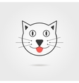 simple cat icon with shadow vector image