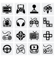 Video game icon set vector image