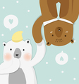 couples bear vector image