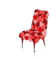 Love chair red for your design vector image