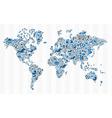 Stock exchange finance world map concept vector image