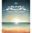 typography poster vector image
