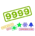 9999 Rubber Stamp vector image vector image