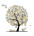 Art tree with baby toys for your design vector image