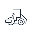 asphalt paver icon vector image