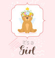 baby shower design template vector image