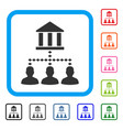bank building client links framed icon vector image