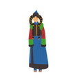 beautiful nomad mongol woman central asian vector image vector image